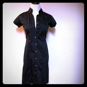 Pre Owned Banana Republic Black Shirt Dress Size 4